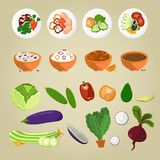 Vegetarian food and Dishes from vegetables concept Stock Photo