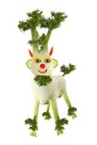 Vegetarian food.  Goat made of fennel Royalty Free Stock Photos