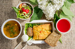 Vegetarian Food healthy food. Delicious Stock Images