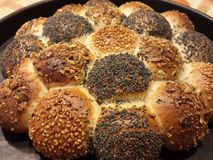 Vegetarian food. Homemade bread with sesame seeds Stock Photo