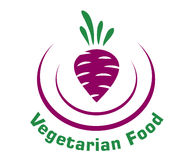 Vegetarian food icon with beetroot Stock Photography