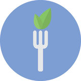 Vegetarian food icon Royalty Free Stock Images