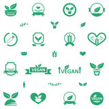 Vegetarian Food Icons Royalty Free Stock Image