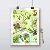Vegetarian food illustration Royalty Free Stock Image
