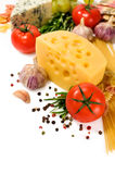 Vegetarian food : ingredients for italian pasta Royalty Free Stock Image