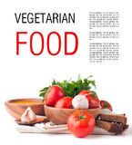 Vegetarian food isolated template Stock Photo