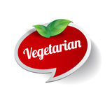 Vegetarian food label Royalty Free Stock Images