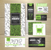 Vegetarian food menu design. Corporate identity Stock Image