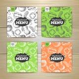 Vegetarian food menu design Stock Photos