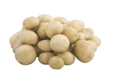 Vegetarian food, new potatoes Stock Photo