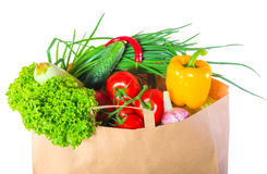 Vegetarian food in a paper box Royalty Free Stock Image