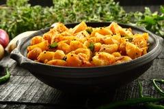 Vegetarian food potato curry Stock Image