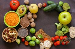 Vegetarian food products stock photography