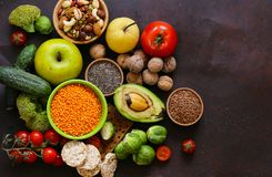 Vegetarian food products Stock Image