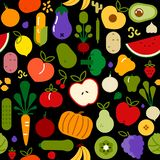 Vegetarian food seamless pattern for healthy diet royalty free illustration