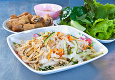 Vegetarian food in Thai style with fresh vegetable Stock Image