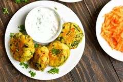 Vegetarian food. Vegetable cutlet Royalty Free Stock Photo