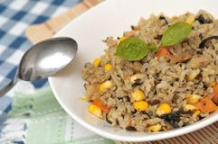 Vegetarian fried rice Stock Image
