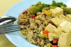 Vegetarian Fried Rice And Bean Curd Cuisine