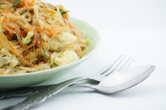 Vegetarian fried vermicelli. Gives you strong and healthy Stock Photos