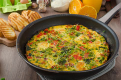 Vegetarian Frittata Stock Photos