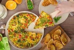 Vegetarian frittata Stock Image