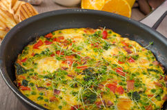 Vegetarian frittata Stock Images