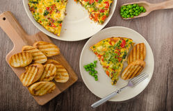 Vegetarian frittata Royalty Free Stock Images