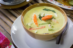 Vegetarian green curry Royalty Free Stock Image