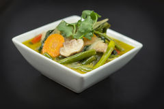 Vegetarian Green Thai Curry Royalty Free Stock Photography