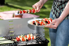 Vegetarian grill Royalty Free Stock Photo