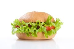 Vegetarian healthy hamburger Stock Photos