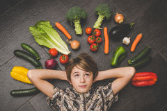 Vegetarian healthy people Stock Photography