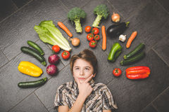 Vegetarian healthy people Royalty Free Stock Images