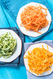 Vegetarian and healthy spaghetti Stock Image