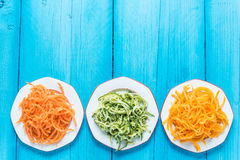 Vegetarian and healthy spaghetti Royalty Free Stock Image