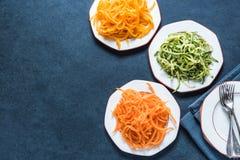 Vegetarian and healthy spaghetti Stock Photos