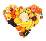 Vegetarian heart Stock Image