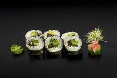 Vegetarian Hosomaki Sushi. Set of Vegetarian Hosomaki Sushi Royalty Free Stock Photos