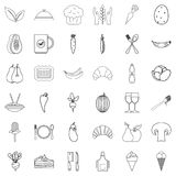 Vegetarian icons set, outline style. Vegetarian icons set. Outline style of 36 vegetarian vector icons for web isolated on white background Royalty Free Stock Photography