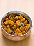 Vegetarian indian potato masala curry Royalty Free Stock Images