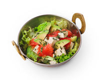Vegetarian indian restaurant dish, fresh salad isolated Stock Photo