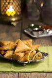Vegetarian Indian Samosas Stock Photos