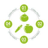 Vegetarian infographics Royalty Free Stock Photography