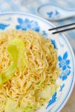 Vegetarian instant noodles Stock Photo