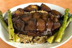 Vegetarian jerk chicken Stock Image