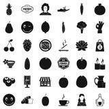 Vegetarian kitchen icons set, simple style Royalty Free Stock Photos