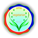 Vegetarian labels Stock Photography