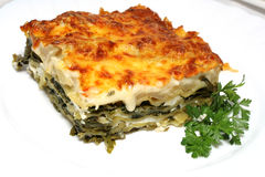 Vegetarian lasagna with Royalty Free Stock Images