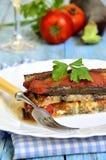 Vegetarian lasagna. Stock Image